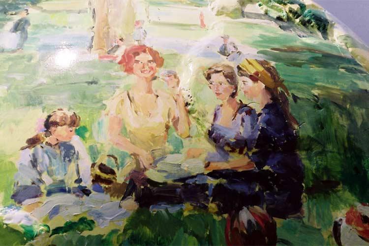 Peter smit schilder schilderijen van strandgezichten for Vaisselle dejeuner sur l herbe